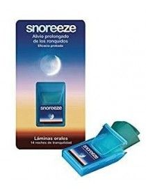 SNOREEZE ORAL LAMINAS 14 UN (STRIP)