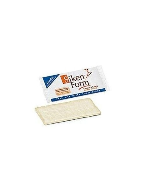 SIKENFORM GALLETA CHOCO BLANCO 25 GR
