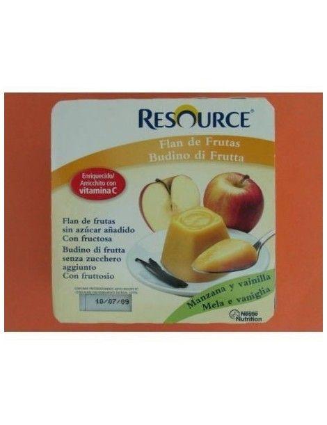 RESOURCE FLAN DE FRUTAS 100GR C/4