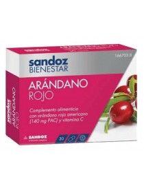 SANDOZ BIENESTAR ARANDANO ROJO 30 CAP