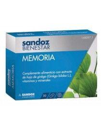 SANDOZ BIENESTAR MEMORIA 30 CAP