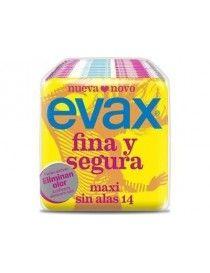 COMPRESAS EVAX FINA SEGURA MAXI 14 UN
