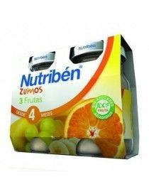 ZUMO NUTRIBEN 3 FRUTAS BIPACK 130 ML