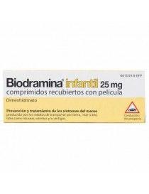 BIODRAMINA INFANTIL 25 MG 12 COMPRIMIDOS