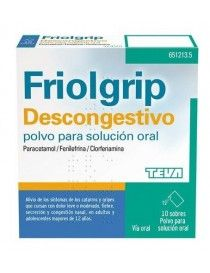 FRIOLGRIP DESCONGESTIVO 10 SOBRES POLVO SOLUCION ORAL