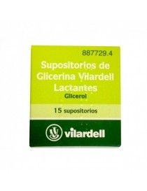 SUPOSITORIOS GLICERINA VILARDELL LACTANTES 0.92 G 15 SUPOSITORIOS