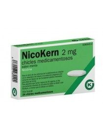 NICOKERN 2 MG 24 CHICLES SABOR MENTA