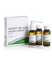 ALOPEXY 50 MG/ML SOLUCION CUTANEA 3 FRASCOS 60 ML