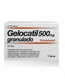 GELOCATIL 500 MG 12 SOBRES GRANULADO ORAL