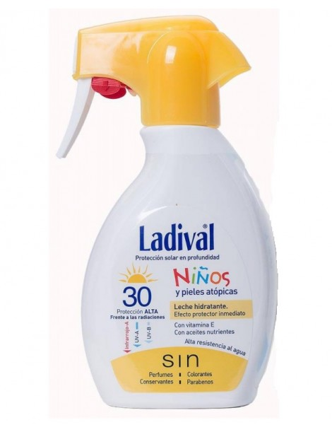 LADIVAL NIÑOS FPS 30 SPRAY LECHE 200 ML