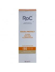 ROC SOLEIL PROTECT FLUIDO ILUMINADOR ANTIEDAD SPF 50 50 ML