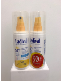 DUPLO LADIVAL PIEL SENSIBLE FPS 50+ SPRAY 2ª UNID 50 %