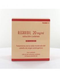 REGAXIDIL 20 MG/ML SOLUCION CUTANEA 4 FRASCOS 60 ML