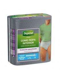 DEPEND PANTS NORMAL L/XL HOMBRE 10 UNIDADES