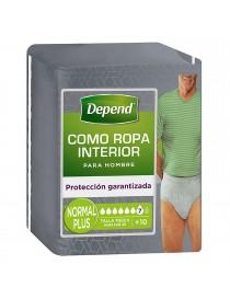 DEPEND PANTS NORMAL S/M HOMBRE 10 UDS