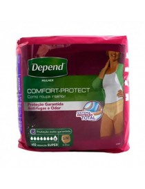 DEPEND PANTS SUPER S/M MUJER 10 UNIDADES