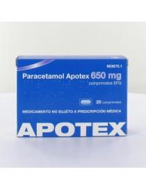 PARACETAMOL APOTEX EFG 650 MG 20 COMPRIMIDOS